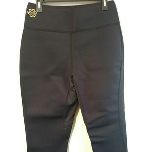 ZAGGORA THERMO NEOPRENE BLACK CAPRI PANTS WOMEN XL